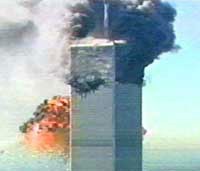 The destruction  of the World Trade Center in New York City on Sept. 11, 2001