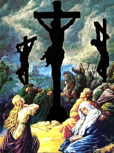 Crucifixion of Jesus Christ for the redemption of the fallen human nature.